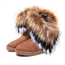 WOMEN'S IVG FUR UGG BOOTS  HTB1 TAN