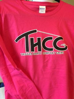 T-Shirt Pink/Black (Womens Long Sleeve)