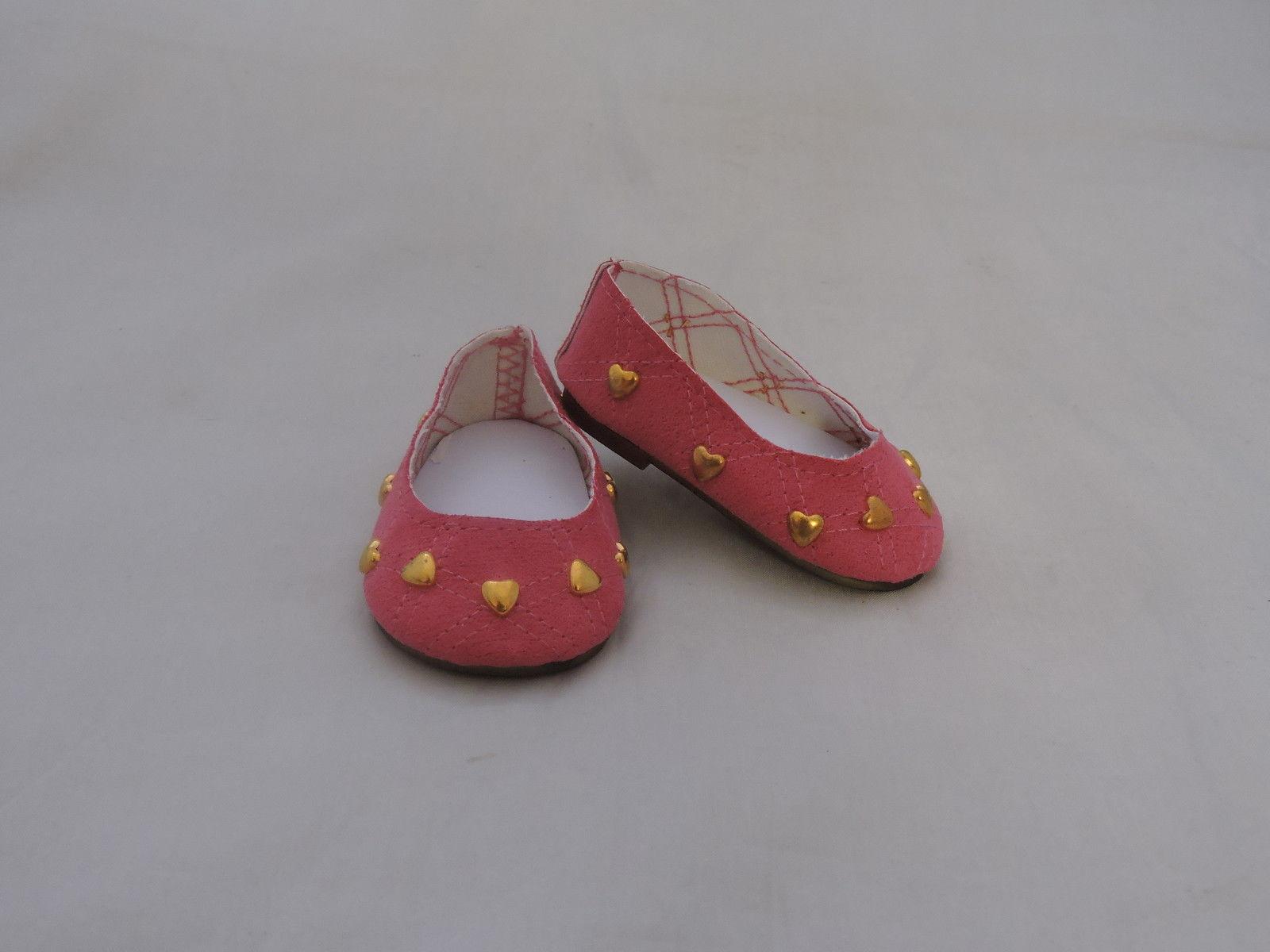 Pink heart ballet flats