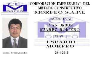 MEMBRESIA DEL METODO CONSTRUCTIVO MORFEO