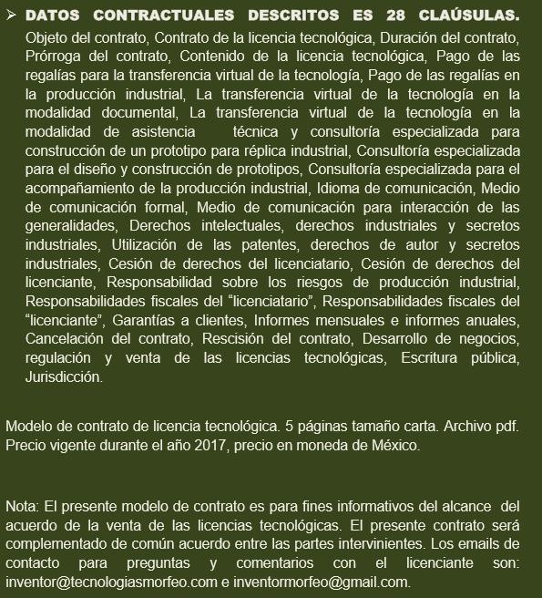 MODELO DEL CONTRATO DE LA LICENCIA