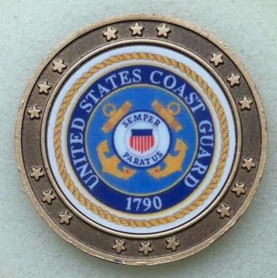 US Coast Guard and POW-MIA Challenge Coin