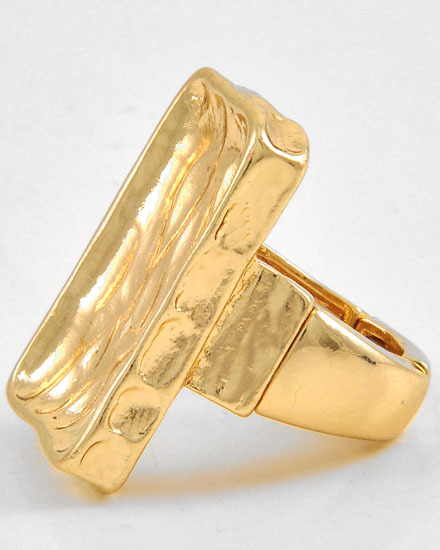 GOLD TONE METAL /STRETCH RING