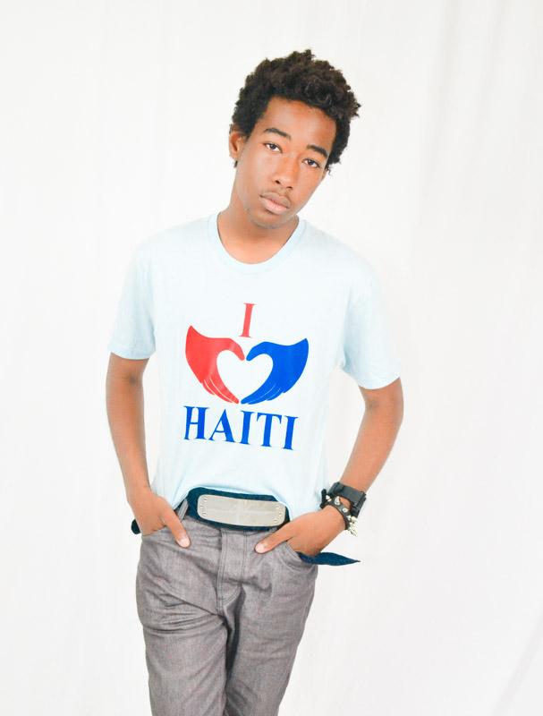 I Love Haiti Round Neck T-shirt