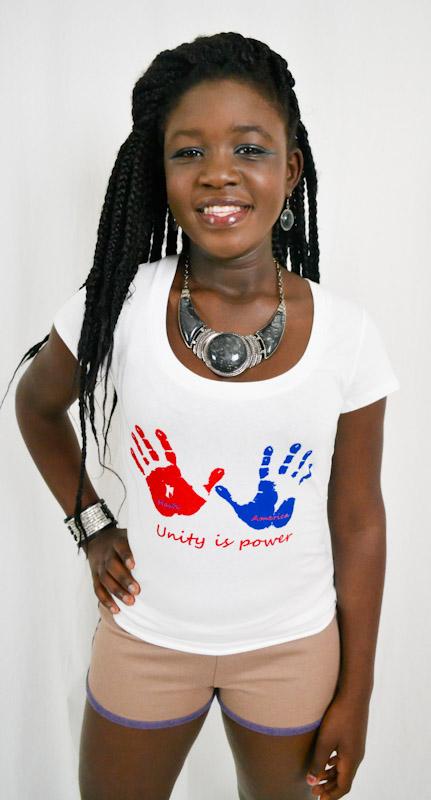 Scoop Neck Unity Is Power T-shirt