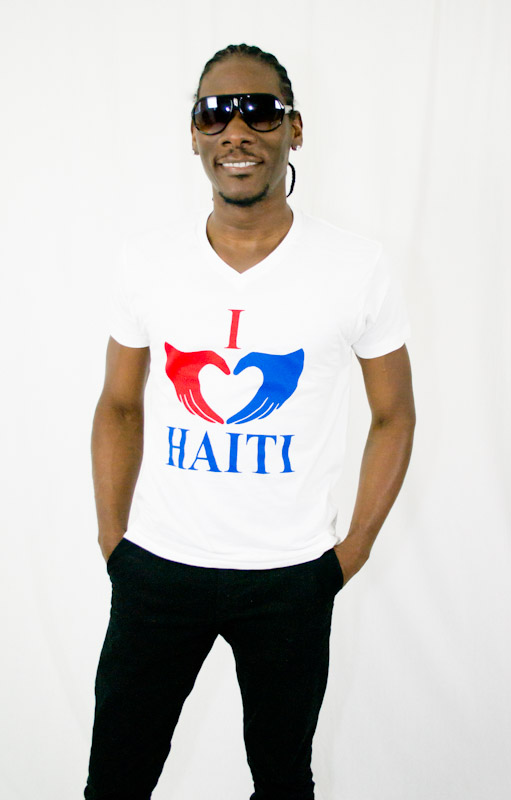 I Love Haiti V-Neck T-shirt
