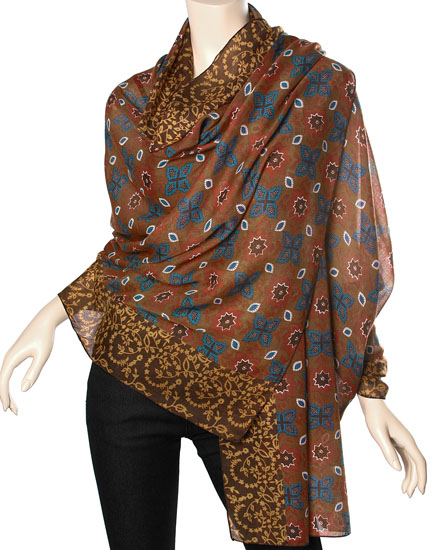 Camel Brown / 100% Polyester / Woven Oversized Scarf