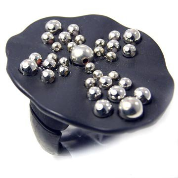 Studded Cross Stretch Ring