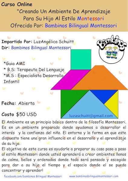 Curso ONLINE: Creando Un Ambiente De Aprendizaje Al Estilo Montessori Para Su Hijo