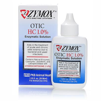 Zymox Otic HC 1.0% Ear Solution 1.25oz