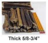 "USA 6"" Bully Stick Thick Thickness"