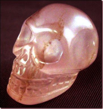 Skull Rose Quartz Crystal
