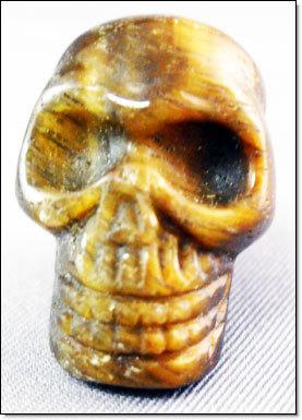 Skull Tiger Eye Crystal