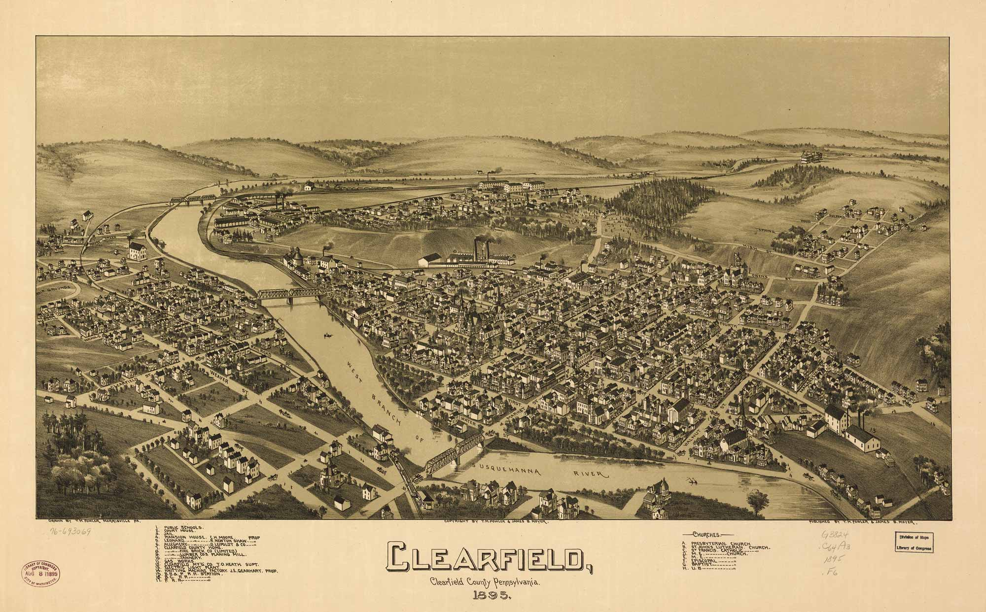 Overview of Clearfield - Illustrated 1895