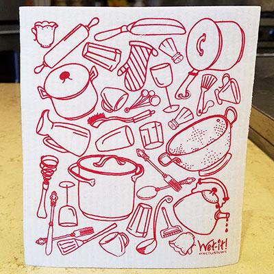 W10-17 Red Pots/Pans